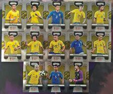 2018 Prizm Fifa World Cup Soccer COMPLETE Team Set Brazil 13 Card Set 25-37