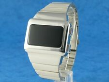 Silver Elvis Watch 1 ANCIENNE VINTAGE 70 s Style DEL LCD Digital Rare Rétro Omeg @ TC2