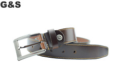 LUXURY MENS LEATHER BELT UNIQUE DESIGN JEANS COMBATS SUIT FASHION