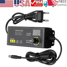3v 24v 60w Adjustable Dc Power Supply Adapter Volt Display With Variable 8 Plugs