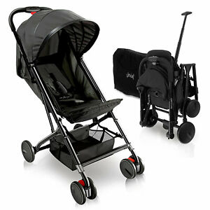 Jovial Portable Folding Lightweight Compact Baby Stroller with Travel Bag, Black