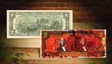MICHAEL JORDAN RED Rency / Banksy Graffiti Street Art $2 Bill Artist Signed #/70