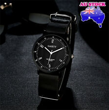 Wholesale Hot Black Leather Classic Mens Black Dial Quartz Sports Wrist Watch