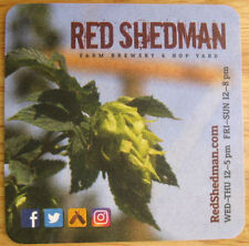 RED SHEDMAN FARM BREWERY & HOP YARD Beer COASTER, Mat Mt Airy MARYLAND 2016 NICE