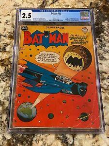 BATMAN #59 CGC 2.5 OW-WHITE PAGES 1ST APP DEADSHOT NEW DC MOVIE JOKER APPEARANCE
