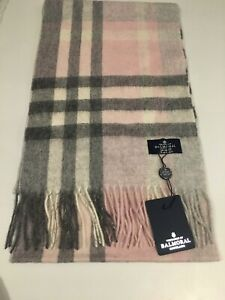 Scotland Balmoral Exploded Thomson Pink Lambswool Scarf Superior Quality Warm