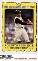 2021 Topps Heritage THE GREAT ONE: ROBERTO CLEMENTE You Pick ~ Complete Your Set