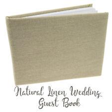 Wedding Guest Book, Rustic Natural Hessian/linen