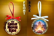 "Disney World-The Great Movie Ride-Thats a Wrap-3"" Doublesided Ornament-FREE SHIP"