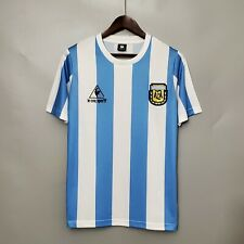 1986 Argentina MARADONA home Retro Soccer Jersey Football Shirt