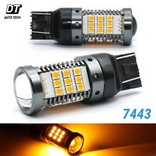 Syneticusa CANBUS Error Free 7443 7440  Amber LED DRL Turn Signal Light Bulbs