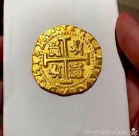 "PERU 1708 8 ESCUDOS ""1715 FLEET"" 22kt PLATED GOLD DOUBLOON COB TREASURE COIN!"