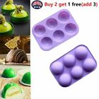6 Holes Semi-Sphere Round Silicone Mold Hot Chocolate Bombs Cake Baking Kit US