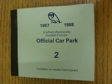 1987/1988 Sheffield Wednesdsay: Official Car Park Season Ticket, Only 7 Tickets