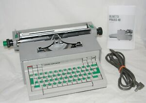 VTG 1969 Olivetti Underwood Praxis 48 Electric Typewriter Wide Carriage Works VG