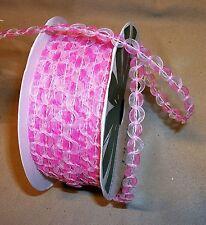 """25 yd. roll Pink Sheer Loop Trim 1/4"""" W"""