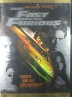 The Fast and the Furious Widescreen DVD 2002 Collectors edition