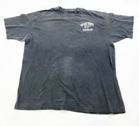 Vintage The Last Bronco Round Up T Shirt Mens XL Black Single Stitch Missing Tag