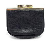 Nina Ricci Paris Womens Leather Coin Pouch Wallet Purse Black