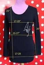 ARMANI size L-XL t-shirt stretch cotton elastane blouse women