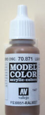Vallejo Model Color Paint: 17ml  Leather Brown 70871 (M147)