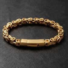 393b91679d0e02 Mens 18K Yellow Gold Byzantine Bracelet Chain Jewellery Gift 21cm/8.27