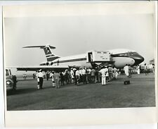 BOAC VICKERS VC10 IN NIGERIA LARGE VINTAGE MANUFACTURERS STAMPED PHOTO