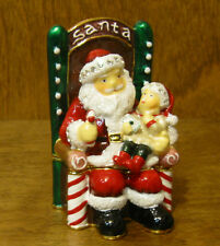 Kubla Crafts Jeweled Trinket Box #KC3615 SANTA with CHILD, From Retail Shop 3""