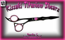 "Kissaki Left Handed 6.0"" Haniku L Black Titanium  Hair Cutting Shears Scissors"