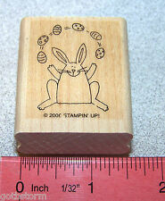 Easter Bunny Rubber Stamp Single Nice Tag Size by Stampin Up Tags So Much