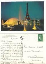 carte postale  paris - tour eiffel - etat correct couleurs années