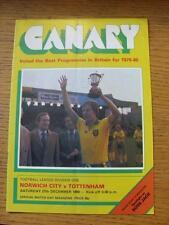 27/12/1980 Norwich City V Tottenham Hotspur (piegato)