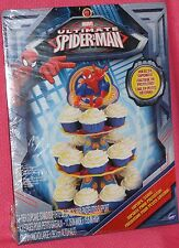 Spider-Man Cupcake/Treat Stand, Cardboard,Wilton,1512-5072,Blue/Red,Ultimate