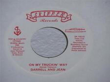 """DARRELL AND JEAN On My Truckin Way/ The Lottery Song 7"""" Skipper SR 1003 (1988)"""