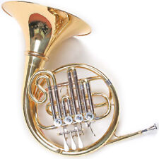 French Horn, B cor, goldmessing embout, 4 cylindres vannes, valise, nouveau