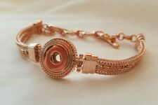 Authentic GINGER SNAPS™ Petite Rose Gold 1-Snap Multi Chain Bracelet-Regular