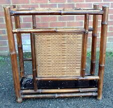 More details for victorian antique arts & crafts aesthetic movement bamboo hall umbrella stand
