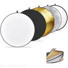 Reflectors 43Inch / 110cm 5in1 Collapsible MultiDisc Light Reflector New