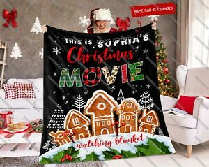 Personalized This Is My Christmas Movie Watching Blanket, 2021 Xmas Family Gifts