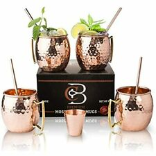 4 Pieces Mini Moscow Mule Cup Hammered Mugs Wine Vodka Drinking 60ml Barware