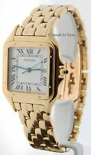 Cartier Large Panthere 18k Yellow Gold Quartz Mens Watch