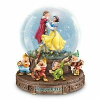 The Bradford Exchange Disney Snow White Musical Glitter Globe with The Seven Dwa