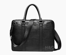 Men's Messenger PU Leather Portfolio Briefcase Attache Business Case Laptop Bag