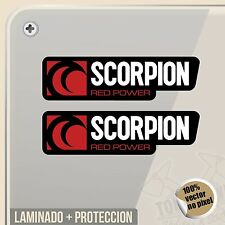 PEGATINA SCORPION EXHAUST RED POWER DECAL VINILO VINYL STICKER DECAL ADESIVI