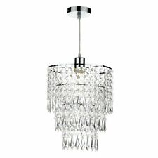 Three Tiered Acrylic Crystal Style Easy Fit Ceiling Light Shade Dar CIL6508