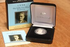 1998 One Dollar Australian Sterling Silver Proof Howard Florey Coin **AS NEW**