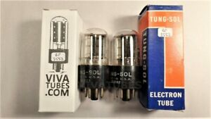 Tests NOS Matched Pair Vintage Tung-Sol USA 6X5GT Get Tubes