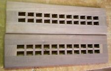 "Walnut Cold Air Return Floor Register Vent Cover for 2"" W x  12"" L Duct Opening"