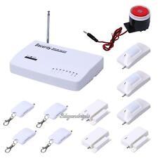 Wireless GSM Siren Alarm System Home Security Door Window Sensor Motion Detector