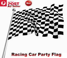 Black & White Checkered Flag Chequered Racing Car Party Flag 150x90cm 5x3ft